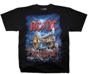 AC/DC Cannon Carnage Black t-shirt