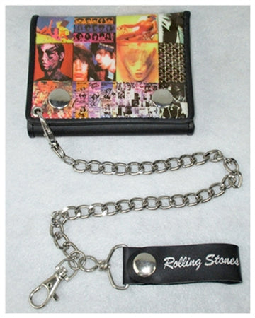 Rolling Stones-Album Covers-Leather Wallet with Chain