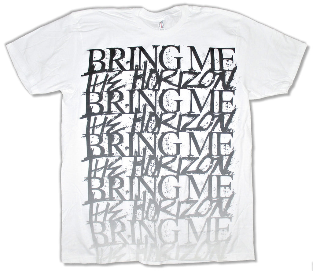Bring Me The Horizon - Fade Logo - White t-shirt