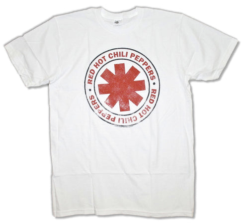 Red Hot Chili Peppers - Vintage Distressed Asterisk - White t-shirt