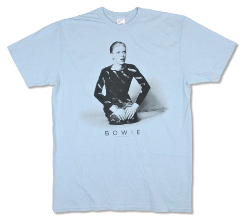 David Bowie - Kneeling - Light Blue t-shirt
