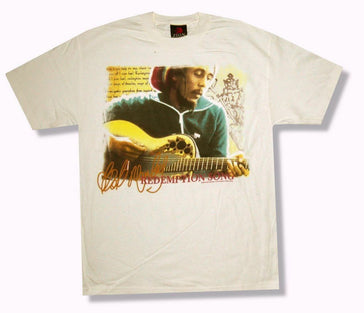 Bob Marley - Green Jacket Photo - Cream T-Shirt