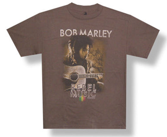 Bob Marley - Rebel Music - Brown T-shirt
