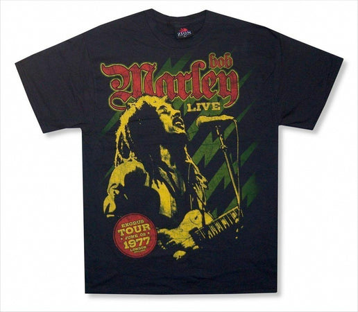 Bob Marley - Live In London 1977 - Black T-shirt