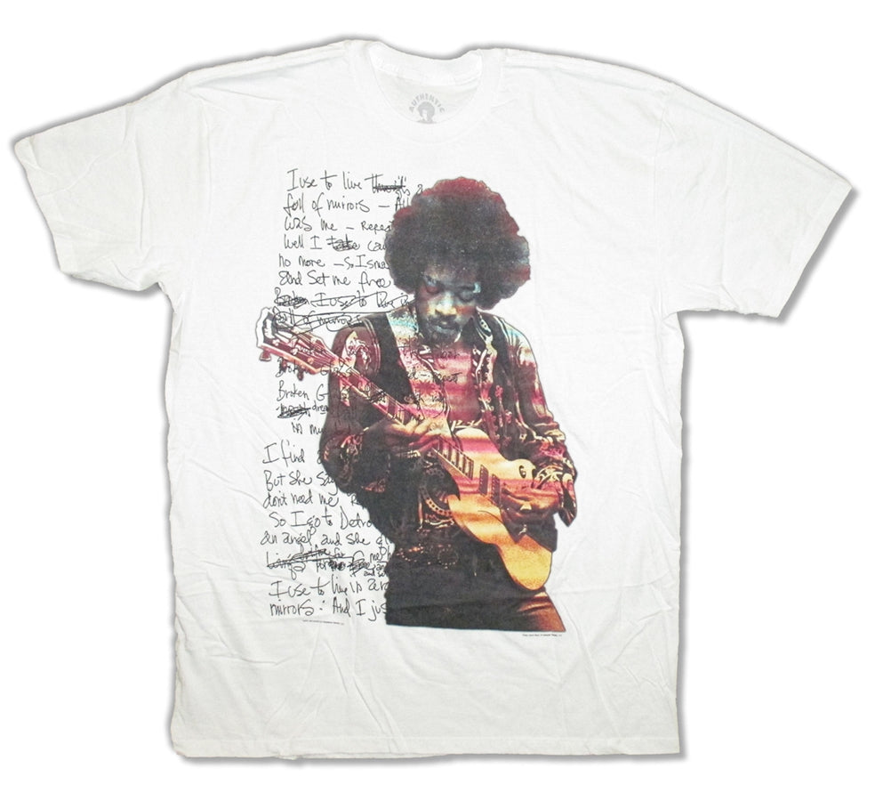 Jimi Hendrix - Room Full Of Mirrors - White  t-shirt