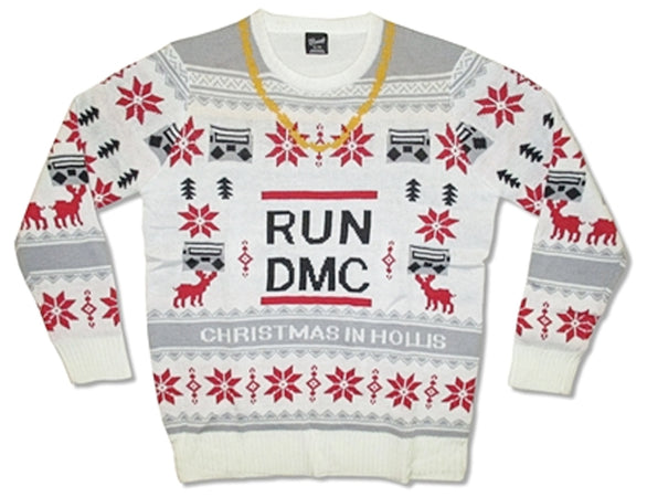 RUN DMC Ugly Christmas Sweater-100% Woven Acrylic