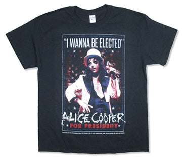Alice Cooper - I Wanna Be Elected 2016 Tour - Black T-shirt
