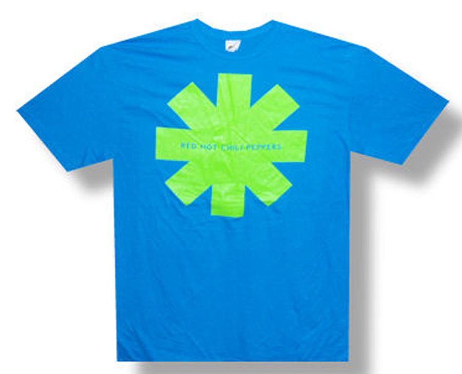 Red Hot Chili Peppers - Lime Asterisk - Turquoise Blue t-shirt