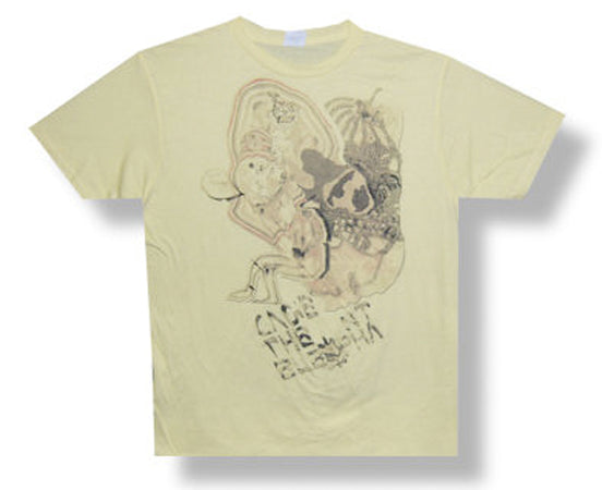Cage The Elephant - Faded Doodle - Yellow t-shirt