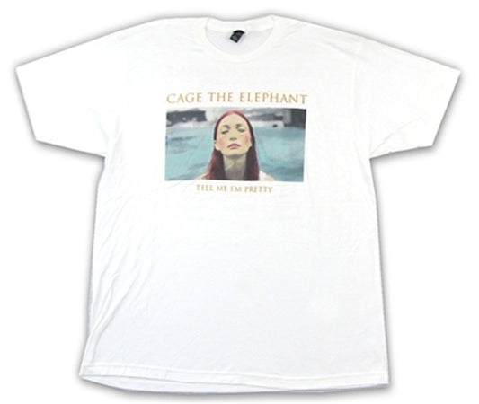 Cage The Elephant - Pretty-2016 Tour - White t-shirt