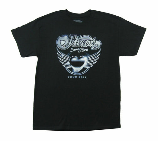 Heart - Chrome 2019 Tour - Black t-shirt