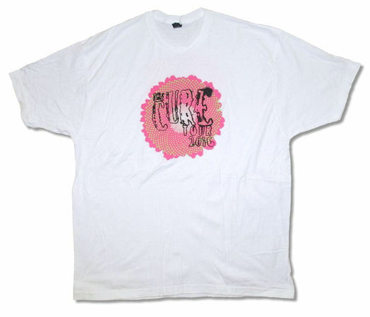 The Cure - Pink Daisy-2016 Tour - White t-shirt
