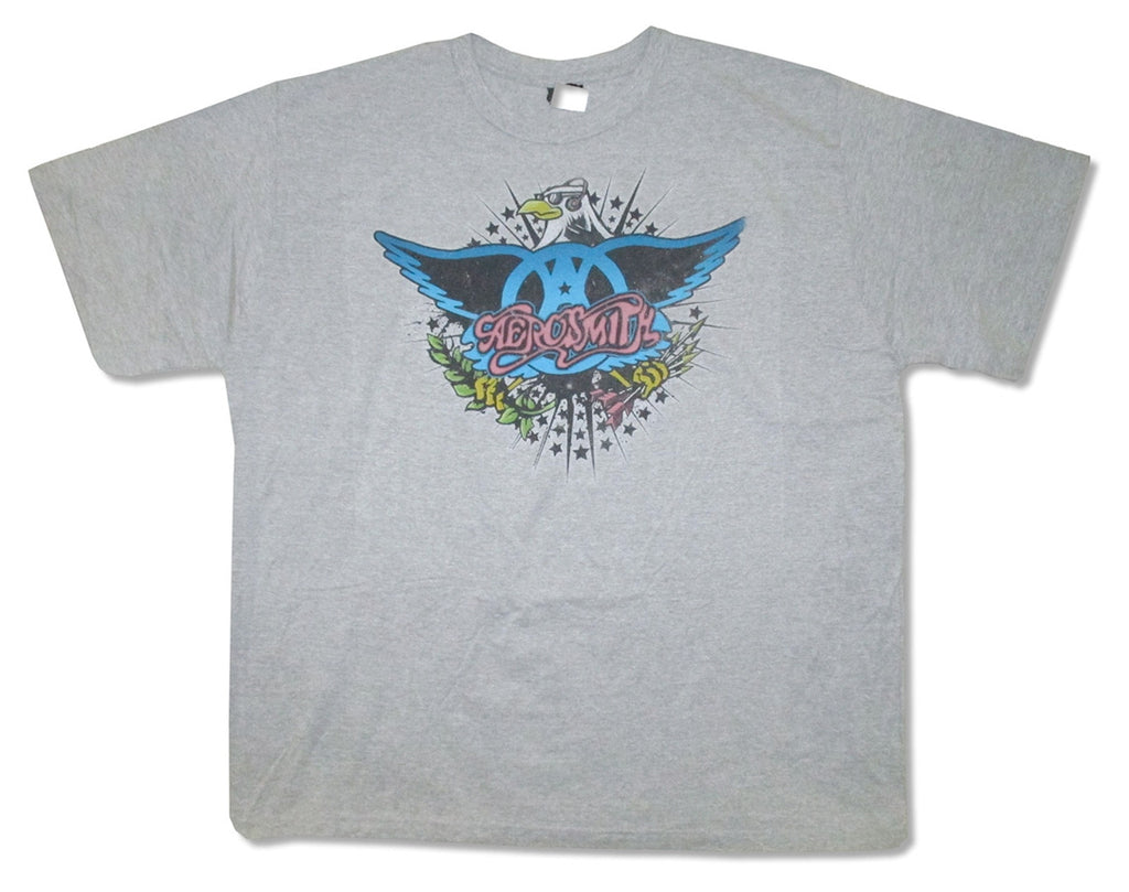 Aerosmith - RARE -Rockin' Eagle - Athletic Gray T-shirt