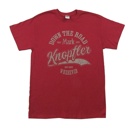 Mark Knopfler - Down The Road 2019 Tour - Red t-shirt