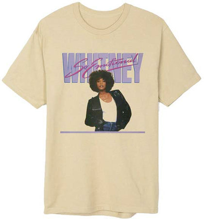 Whitney Houston - So Emotional - Greyish Beige t-shirt