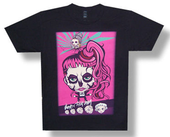 Lady Gaga Cartoon-Born This Way 2013 Tour T-shirt