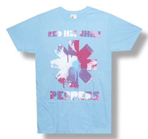 Red Hot Chili Peppers - Paint Asterisk - Light Blue t-shirt