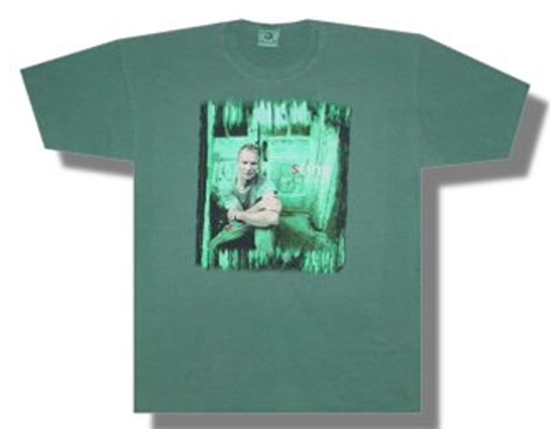 The Police-Sting-All This Time-Green t-shirt