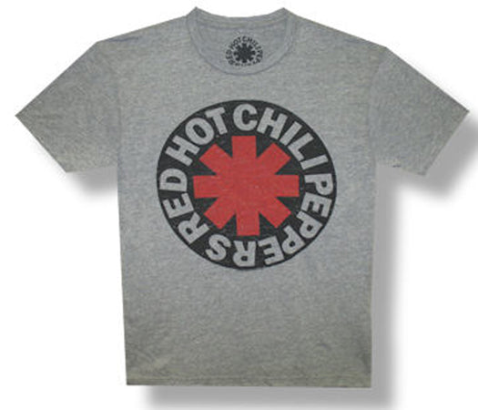Red Hot Chili Peppers - Asterisk Circle - Heather Grey Cotton Blend t-shirt