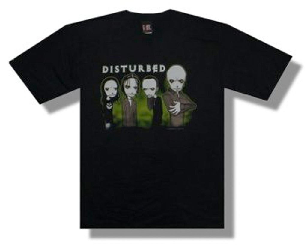 Disturbed (RARE) Midnight Glow In The Dark - Black t-shirt