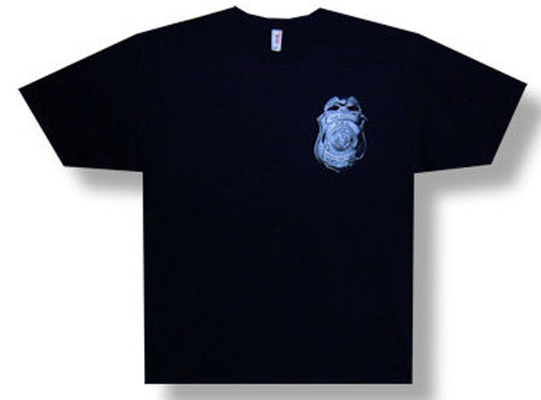 The Police-Badge Logo-2007-2008 World Tour Backprint-Black t-shirt