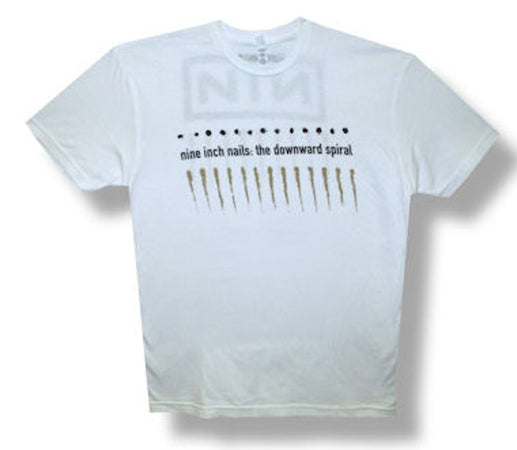 Nine Inch Nails-Downward Spiral-White Lightweight t-shirt