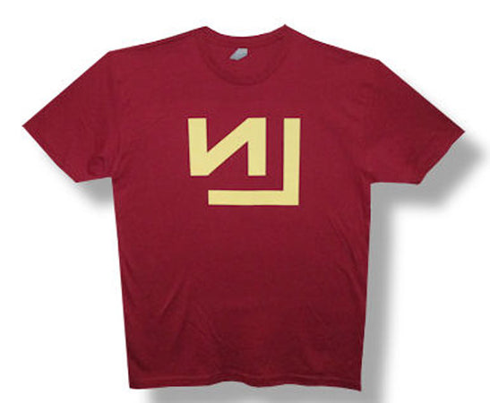 Nine Inch Nails-Logo-Summer 2013 Tour-Dark Red Lightweight t-shirt
