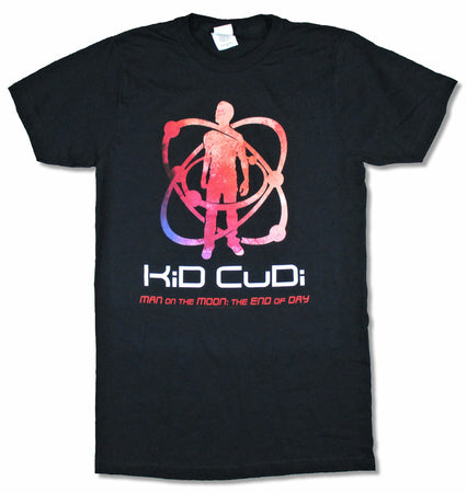 Kid Cudi-Man On The Moon - Black T-shirt