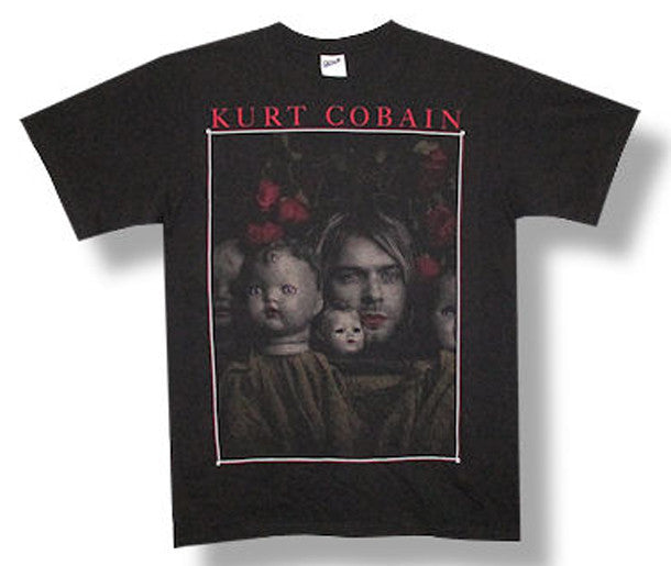 Nirvana Kurt Cobain Kurt-Doll Heads Black t-shirt