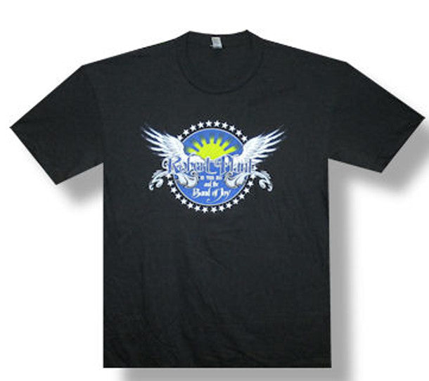 Robert Plant Wings Logo 2011 Tour Black Fitted t-shirt