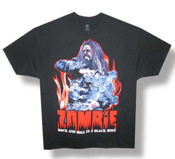 Rob Zombie Rock N Roll In A Black Hole Black t-shirt