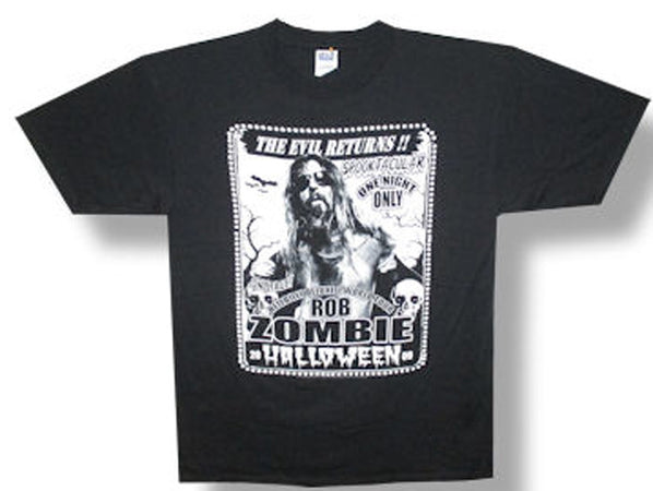 Rob Zombie Spooktacular 2009 Tour Black t-shirt