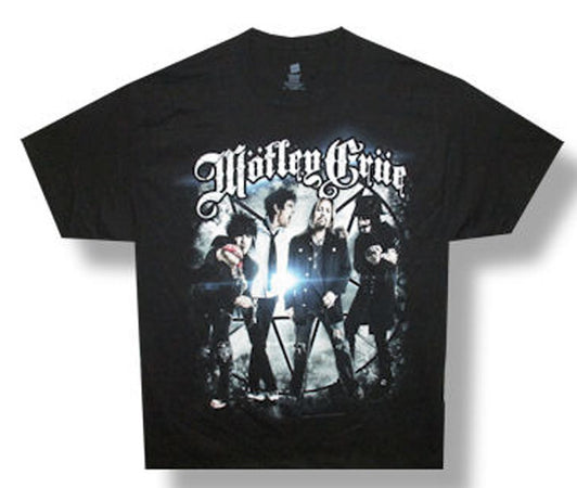 Motley Crue-Group Photo-2012 Tour Backprint Black t-shirt