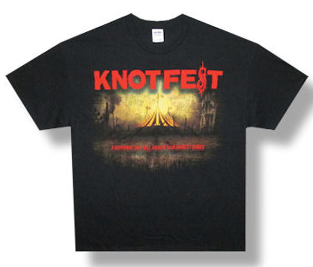 Slipknot-Knotfest-Tent-Black t-shirt