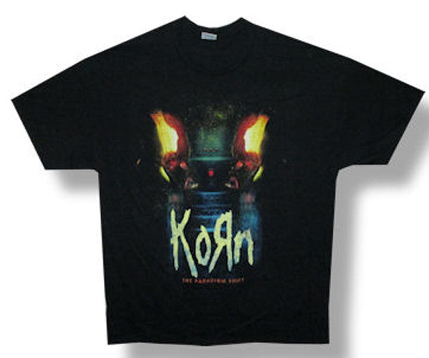 Korn Power Distressed Logo 2014 Tour Backprint Black t-shirt