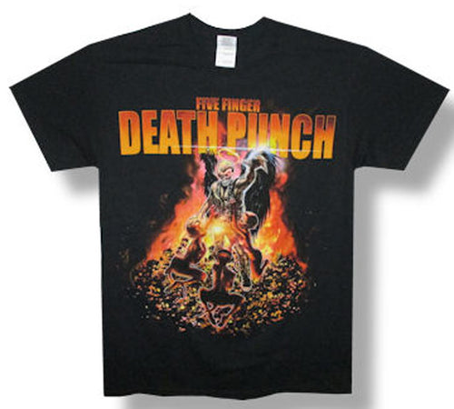 Five Finger Death Punch-Purgatory 2014 Tour-Black Lightweight t-shirt