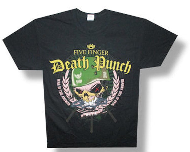 Five Finger Death Punch-Warhead-2014 Tour-Black Lightweight t-shirt