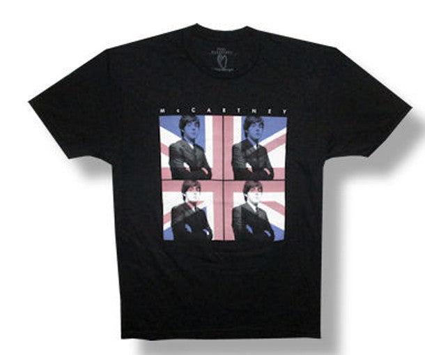 Paul McCartney Flag 2013 Tour Belo Horizonte Dates Black  t-shirt