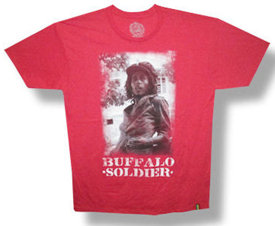 Bob Marley Buffalo Soldier Heather Red T-Shirt