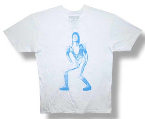 David Bowie Ziggy Solo-White Lightweight  t-shirt