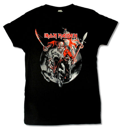 Iron Maiden-Horse Rider 2012 Tour-Girl's Junior Black T-shirt