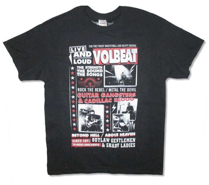 Volbeat Discography Black t-shirt
