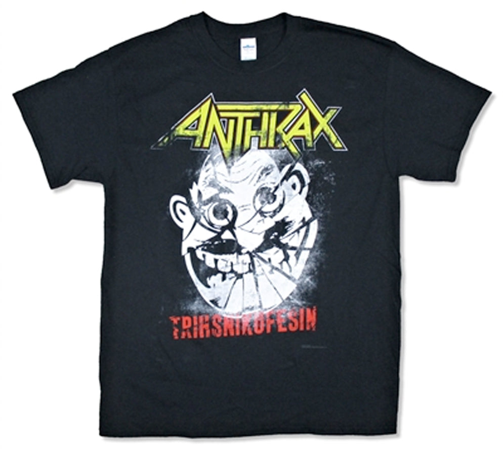 Anthrax - Cracked Not Man-2015 Tour - Black T-shirt