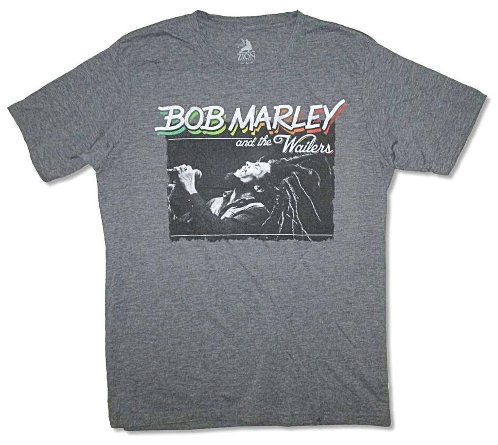 Bob Marley-Live In Concert-Heather Gray Cotton Blend t-shirt