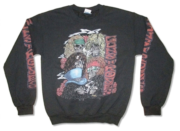 Guns N Roses -  Stacked Skulls-Crew Neck Sweatshirt