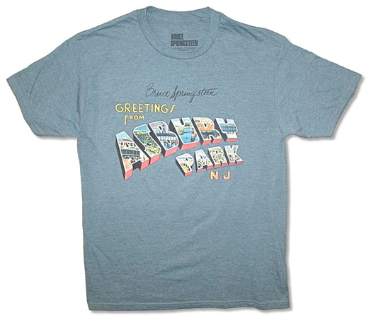Bruce Springsteen - Greetings From Asbury Park - Slate Blue  t-shirt