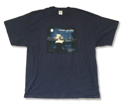 Cyndi Lauper - At Last - Navy Blue T-shirt