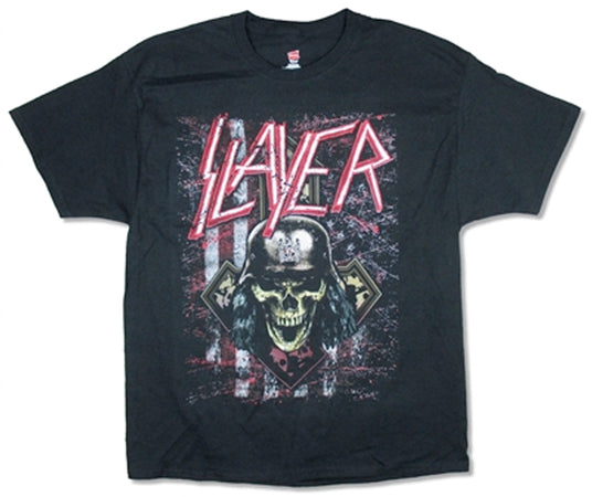 Slayer - Scratched Flag 2018 Tour - Black T-shirt