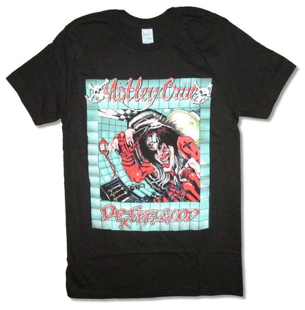 Motley Crue-Dr Feelgood Office - Black T-shirt