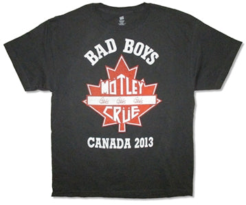 Motley Crue-Bad Boys Canada 2013 Black T-shirt